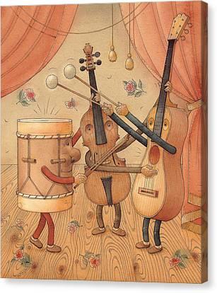 Musicians Canvas Print by Kestutis Kasparavicius
