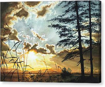 Muskoka Dawn Canvas Print by Hanne Lore Koehler