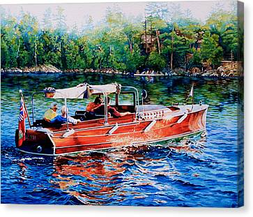 Muskoka Woody Canvas Print by Hanne Lore Koehler