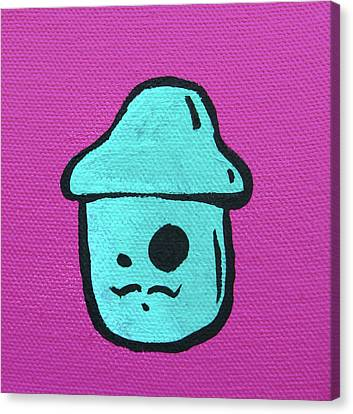 Mustache Mushroom Canvas Print by Jera Sky