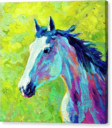 Mustang Canvas Print by Marion Rose