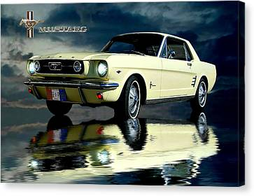 Mustang Canvas Print by Steven Agius