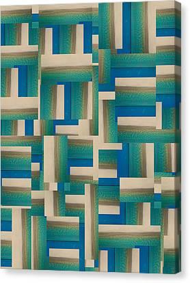 My Coastal Colors Harmony Inspire Your Home Canvas Print by Betsy C Knapp