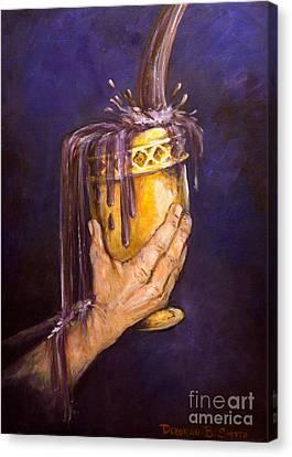 My Cup Runs Over Canvas Print by Deborah Smith