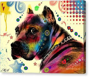 My Dog Canvas Print by Mark Ashkenazi