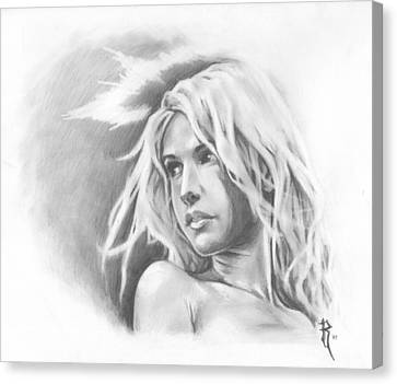 My Ethereal Angel Canvas Print by Ronald Barba