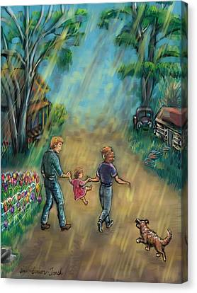 My First Memory Canvas Print by Dawn Senior-Trask
