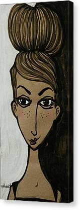 my friend Ella Bella Canvas Print by Jane Duhart