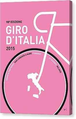 My Giro D'italia Minimal Poster 2015 Canvas Print by Chungkong Art