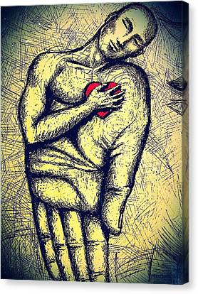 My Heart In Your Hand Canvas Print by Paulo Zerbato