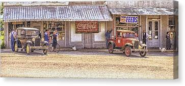 My Home Town Canvas Print by Ron  McGinnis