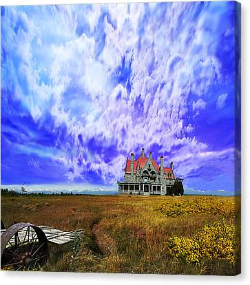 My House On A Hill Canvas Print by Jeff Burgess