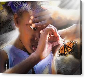 My Little Butterfly Canvas Print by Bob Salo