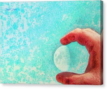 My Little Moon - Pa Canvas Print by Leonardo Digenio