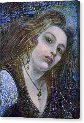 My Mermaid Christan Canvas Print by Otto Rapp