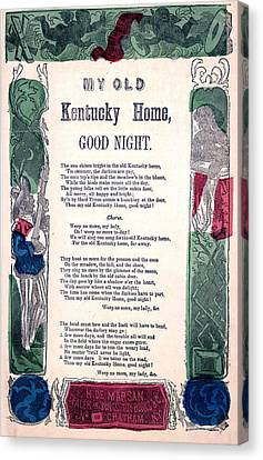 My Old Kentucky Home, Good Night Canvas Print by Everett