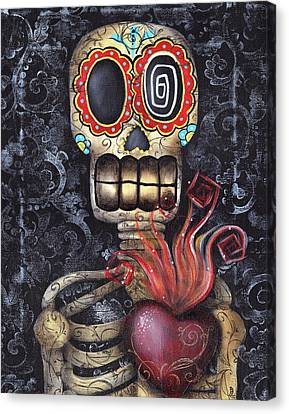 My Sacred Heart Canvas Print by  Abril Andrade Griffith