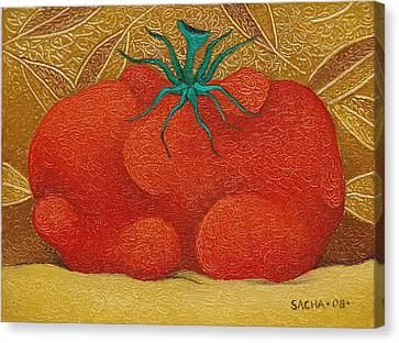 My Tomato  2008 Canvas Print by S A C H A -  Circulism Technique