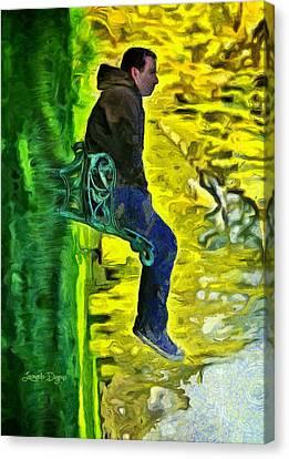 My Vertical World Canvas Print by Leonardo Digenio