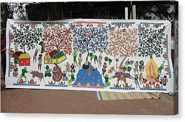 My Village 2005 Canvas Print by Ram Singh Urveti