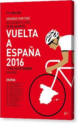 My Vuelta A Espana Minimal Poster 2016 Canvas Print by Chungkong Art