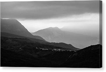 Mysterious Land - Black And White  Canvas Print by Andrea Mazzocchetti