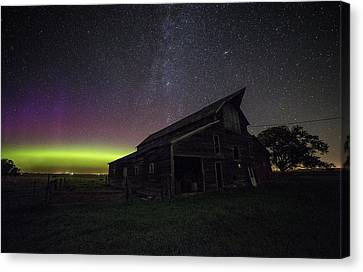 Mysterious Lights Canvas Print by Aaron J Groen
