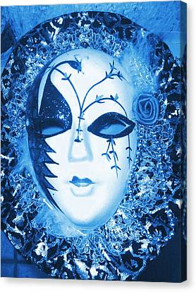 Mysterious Mask Canvas Print by Anne-Elizabeth Whiteway