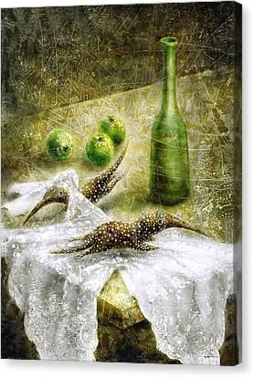 Mysterious Movement Canvas Print by Lolita Bronzini
