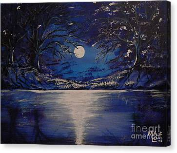 Mystery At Moonlight 1 Series Canvas Print by Mario Lorenz