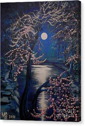 Mystery At Moonlight 2 Series Canvas Print by Mario Lorenz