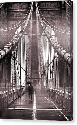 Mystery Man Of Brooklyn Canvas Print by Az Jackson
