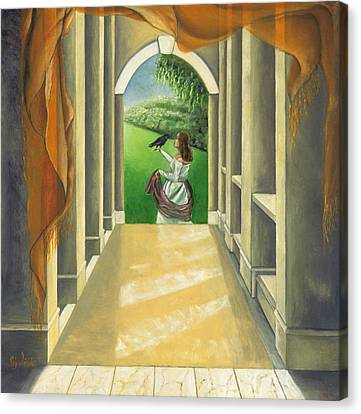 Mystery Messenger Canvas Print by Gloria Cigolini-DePietro