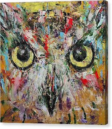 Mystic Owl Canvas Print by Michael Creese
