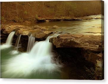 Mystical King River Falls Canvas Print by Iris Greenwell