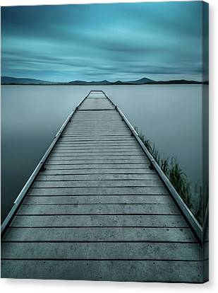 Mystical Pier Canvas Print by Larry Marshall