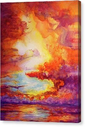 Mystical Sunset Canvas Print by Estela Robles