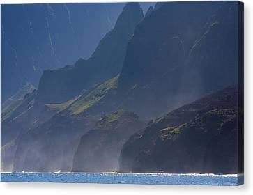 Na Pali Morning Mist Canvas Print by Mike  Dawson