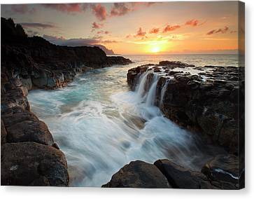 Na Pali Sunset Canvas Print by Mike  Dawson