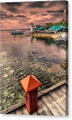 Nalusuan Island Sunset Canvas Print by Adrian Evans