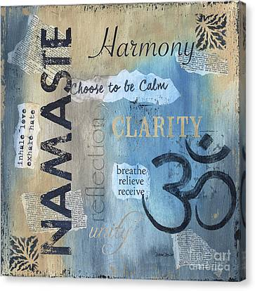 Namaste Canvas Print by Debbie DeWitt