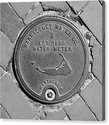 Nantucket Water Meter Cover Canvas Print by Charles Harden