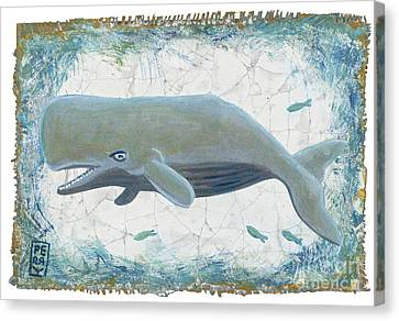 Nantucket Whale Canvas Print by Danielle Perry