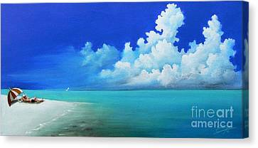 Nap On The Beach Canvas Print by Susi Galloway