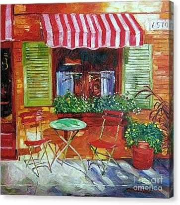 Napa Bistro Canvas Print by David Lloyd Glover