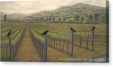Napa Ravens Canvas Print by Marte Thompson