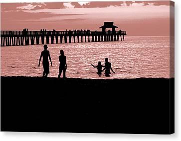Naples Florida Sunset Canvas Print by Jason Pepe