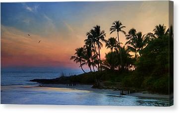 Naples Palms Canvas Print by Lori Deiter