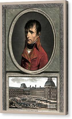 Napoleon Bonaparte And Troop Review Canvas Print by War Is Hell Store