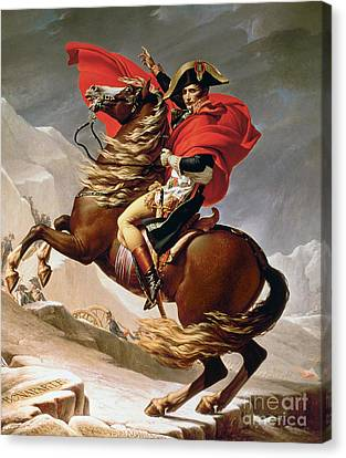 Napoleon Crossing The Alps Canvas Print by Jacques Louis David